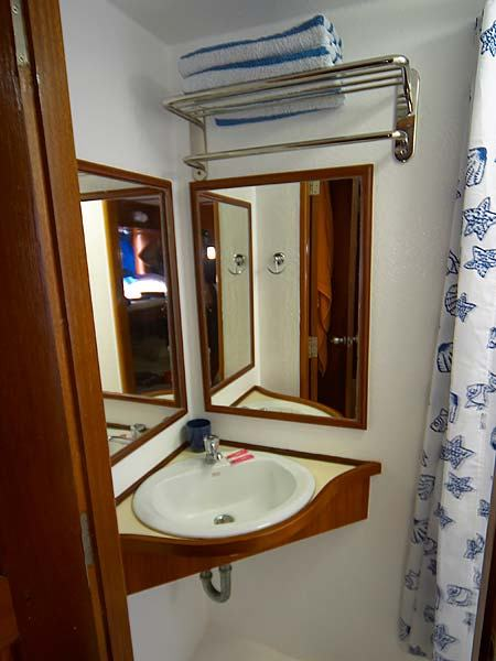 Mermaid II Liveaboard Bathroom Sink