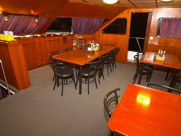 Mermaid II Liveaboard Dining Area
